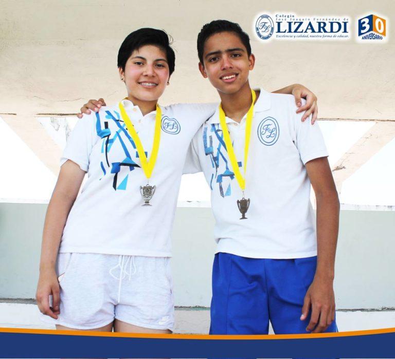 Ganadores salto de longitud Colegio Lizardi