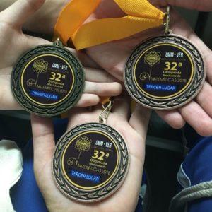 Medallas de ganadores de Olimpiadas del conocimiento matemáticas