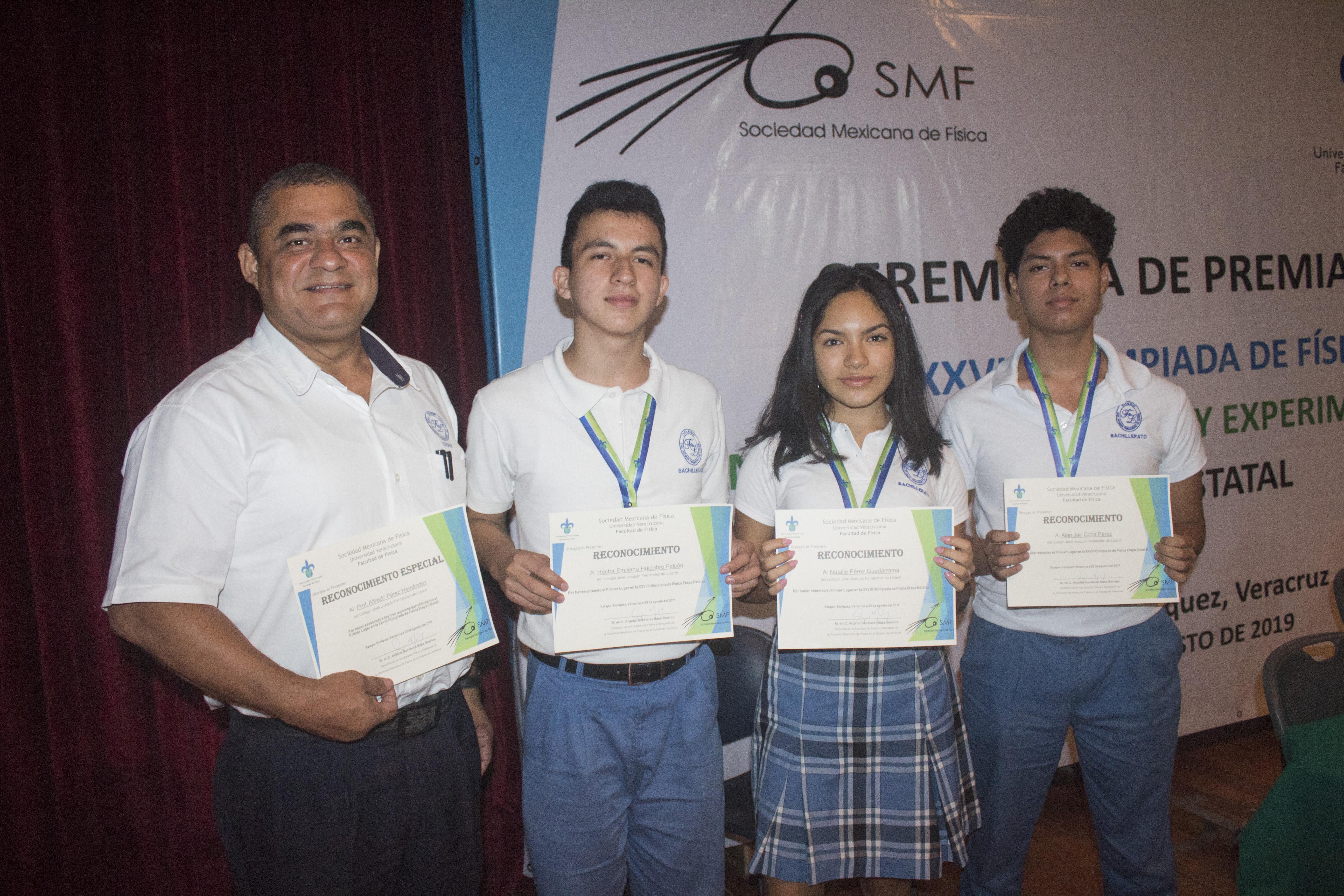 Reconocimientos en las Olimpiadas del Conocimiento. Bachilleratos, Veracruz.